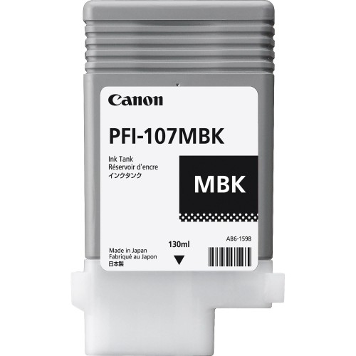 Canon PFI-107MBK (Genuine) 130ml