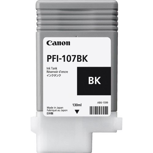 Canon PFI-107BK (Genuine) 130ml