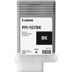 Canon PFI-107BK (Genuine) 130ml